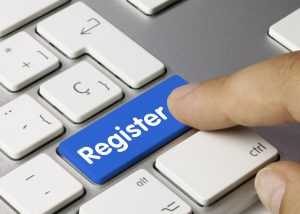 Register keyboard key finger