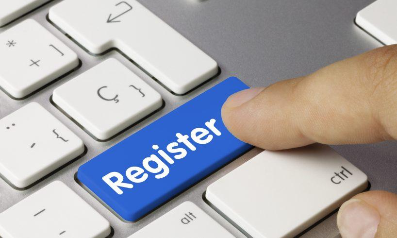 Register keyboard key finger